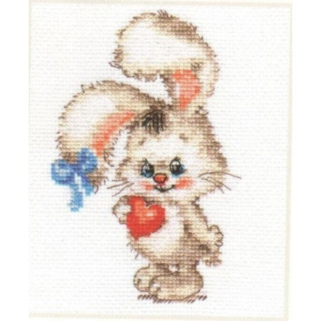 click here to view larger image of For My Bunny (counted cross stitch kit)