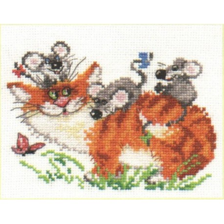 click here to view larger image of Fun Walk (counted cross stitch kit)