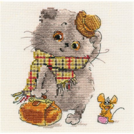 click here to view larger image of Basik and Milena - Little Guests (counted cross stitch kit)