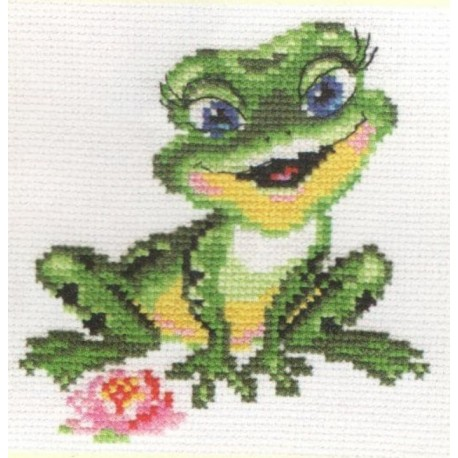 click here to view larger image of Beautiful Frog (counted cross stitch kit)