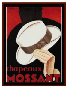 click here to view larger image of Chapeaux Mossant - Vintage Poster (chart)