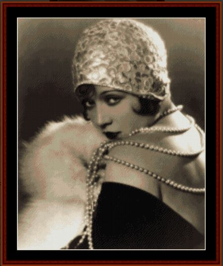 click here to view larger image of Demure Flapper (chart)