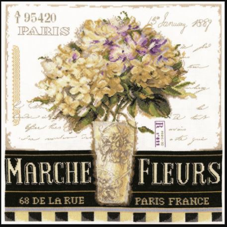 click here to view larger image of Marche De Fleurs (counted cross stitch kit)