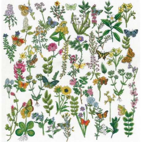 click here to view larger image of Botanical Beauty (counted cross stitch kit)