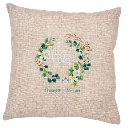 click here to view larger image of Love Cushion (counted cross stitch kit)