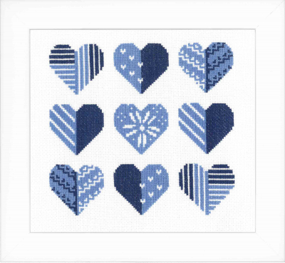 click here to view larger image of Hearts (counted cross stitch kit)