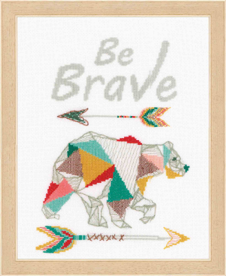 click here to view larger image of Be Brave (counted cross stitch kit)