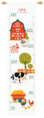 click here to view larger image of At the Farm Growth Chart (counted cross stitch kit)