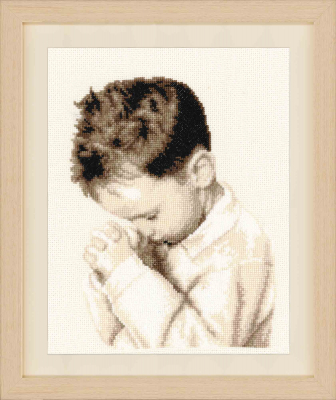 click here to view larger image of Praying Boy (counted cross stitch kit)