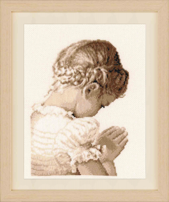 click here to view larger image of Praying Girl (counted cross stitch kit)