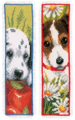 click here to view larger image of Dogs Bookmarks (counted cross stitch kit)