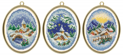 click here to view larger image of Winter Villages (counted cross stitch kit)