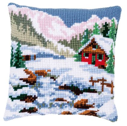 click here to view larger image of Winter Scenery Cushion (counted canvas kit)