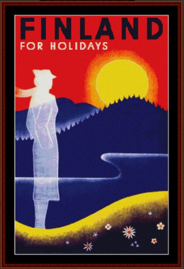 click here to view larger image of Finland Travel Poster (chart)