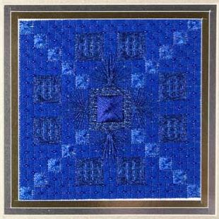 click here to view larger image of Glitz & Glamour Sapphire (counted canvas chart)