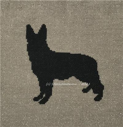 click here to view larger image of Dog Silhouette - German Shepherd (chart)
