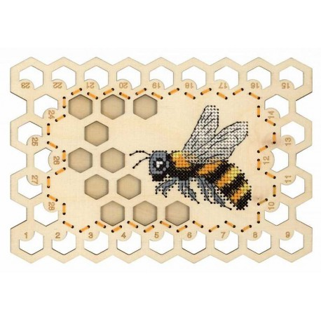 click here to view larger image of Organizer Bee (counted cross stitch kit)