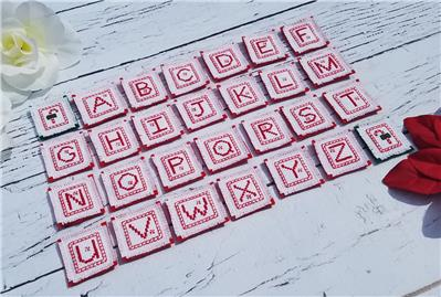 click here to view larger image of Candy Cane Alphabet (chart)
