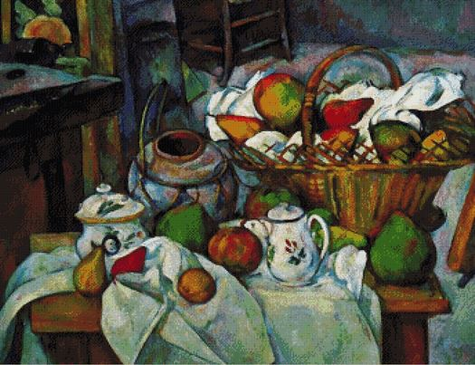 click here to view larger image of Vessels Basket and Fruit - Paul Cezanne (chart)