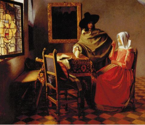 click here to view larger image of Glass of Wine, The - Johannes Vermeer (chart)