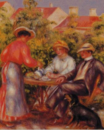click here to view larger image of Cup of Tea 1907, The -  Renoir (chart)