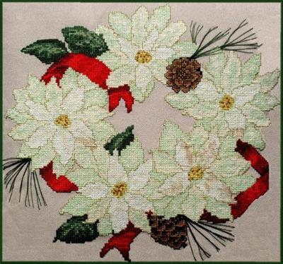 click here to view larger image of Poinsettia Wreath (chart)