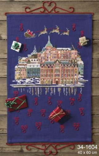 click here to view larger image of Christmas in Town (counted cross stitch kit)