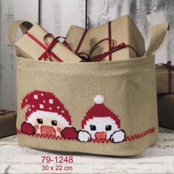 click here to view larger image of Christmas Basket (counted cross stitch kit)