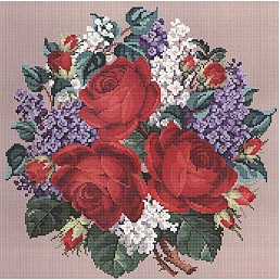 click here to view larger image of Roses and Lilacs Bouquet (chart)