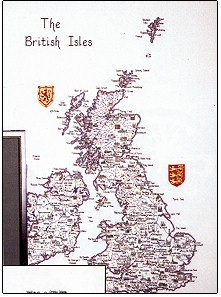 click here to view larger image of Map of British Isles - Britain in Stitches (chart)