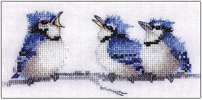 click here to view larger image of Blues, The (counted cross stitch kit)