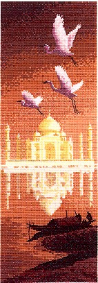 click here to view larger image of Taj Mahal - International (counted cross stitch kit)