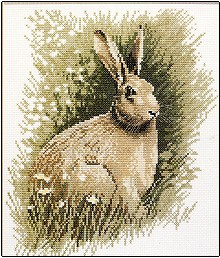click here to view larger image of Brown Hare (counted cross stitch kit)