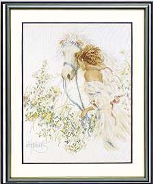 click here to view larger image of Horse and Flowers/Spring Ride - 27ct (counted cross stitch kit)