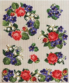 click here to view larger image of Roses and Violets Series 1 (chart)