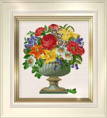 click here to view larger image of Potpourri of Flowers (chart)