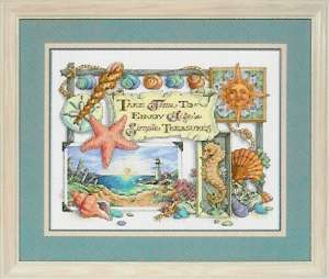 click here to view larger image of Simple Treasures (counted cross stitch kit)