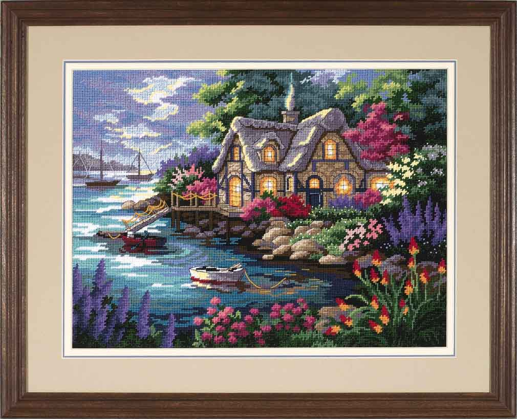 click here to view larger image of Cottage Cove (needlepoint kits)