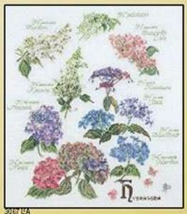 click here to view larger image of Floral Sprigs - Linen (counted cross stitch kit)