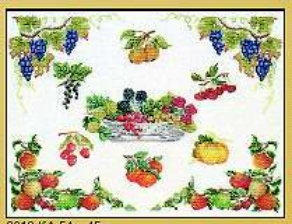 click here to view larger image of Fruit (counted cross stitch kit)