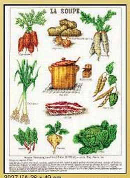 click here to view larger image of La Soupe - Linen (counted cross stitch kit)