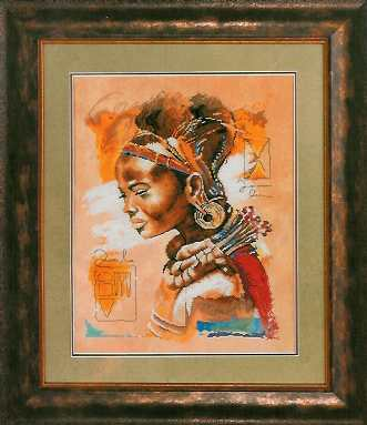 click here to view larger image of African Woman - 27ct (counted cross stitch kit)