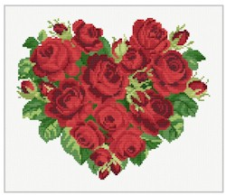 click here to view larger image of Heart of Roses (chart)