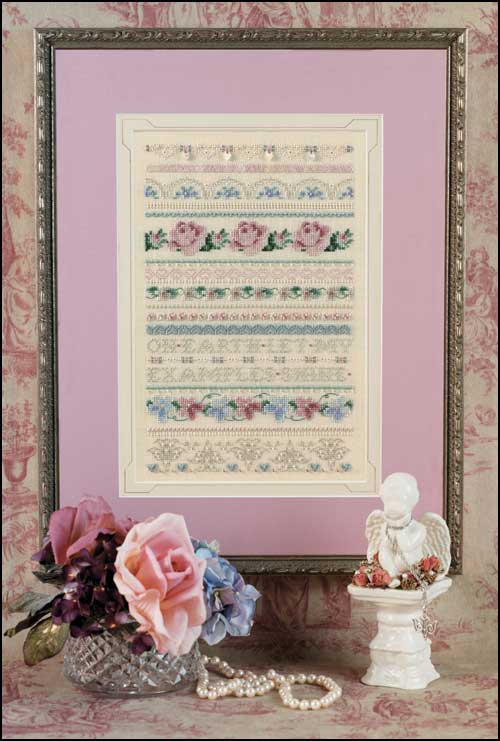 click here to view larger image of Cynthia's Sampler (chart with charms/buttons)