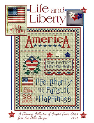 click here to view larger image of Life and Liberty w/charms (chart)