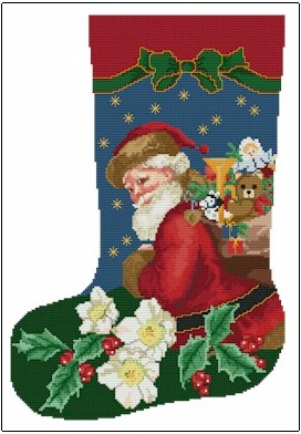 click here to view larger image of Christmas Rose Stocking (chart)