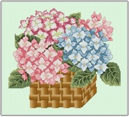 click here to view larger image of Hydrangea Basket (chart)