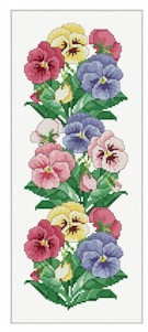 click here to view larger image of Pansy Border (chart)