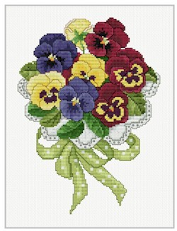 click here to view larger image of Pansy Bouquet (chart)