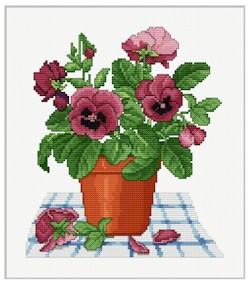 click here to view larger image of Pansy Pot (chart)